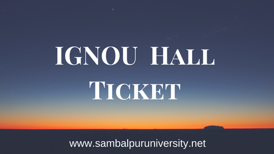 ignou hall ticket