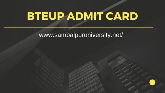BTEUP Admit Card