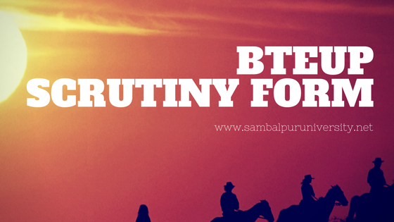 Download BTEUP Scrutiny Form 2020 PDF Diploma Revaluation Form