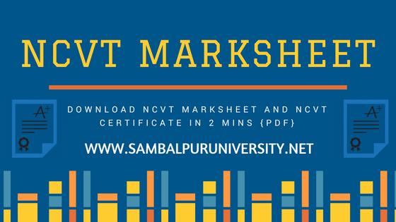 NCVT MarkSheet