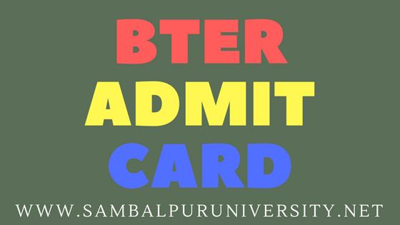 bter admit card