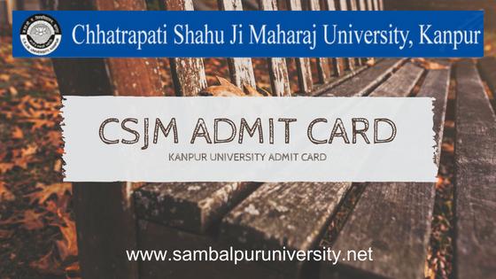 CSJM Admit Card