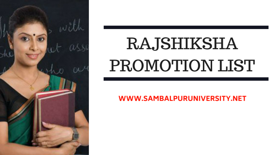 Rajshiksha Promotion List
