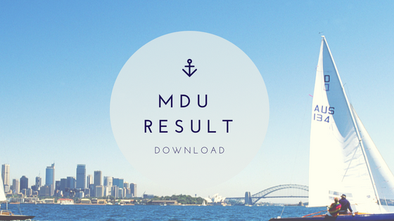 MDU ReAppear result