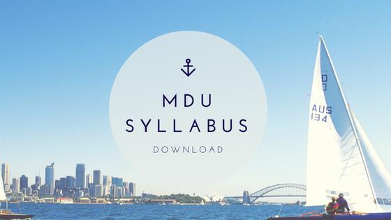 MDU Syllabus