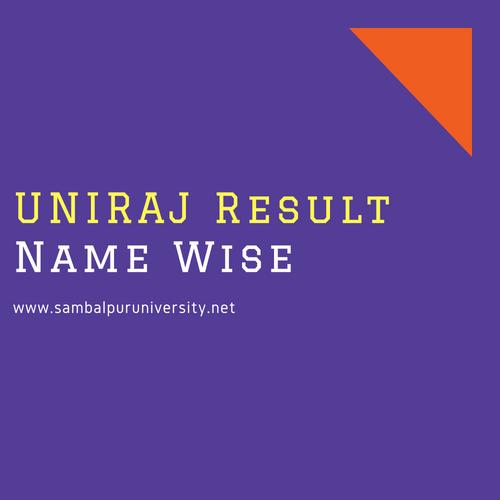 Uniraj result name wise