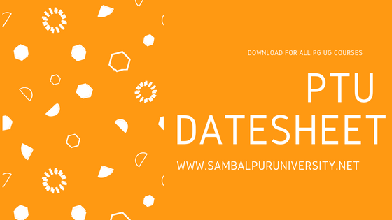 PTU Date sheet
