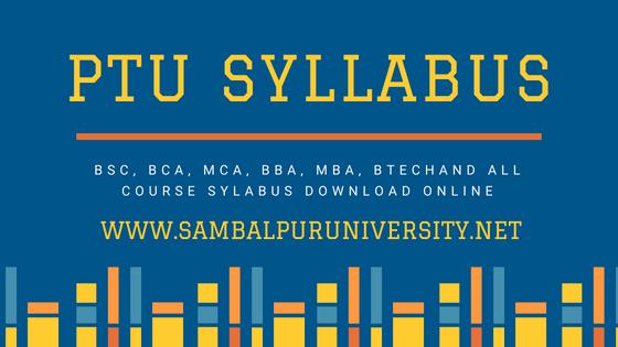 PTU Syllabus