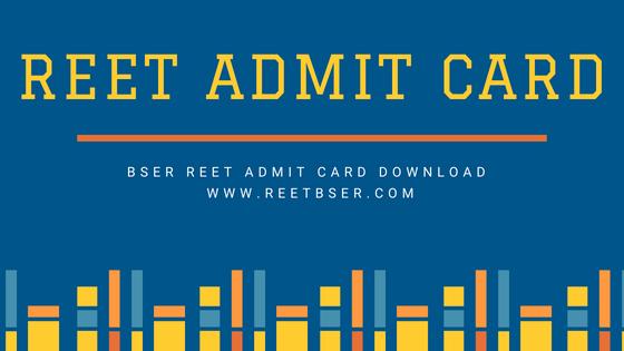 REET Admit Card