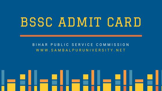 BSSC Admit Card