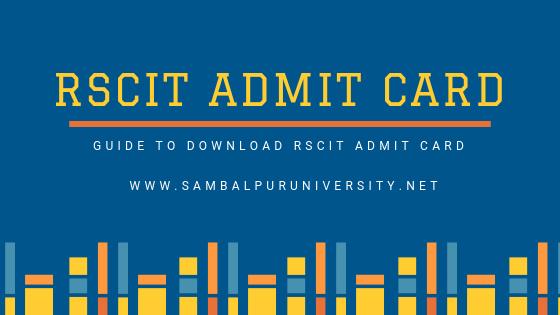 RSCIT Admit Card