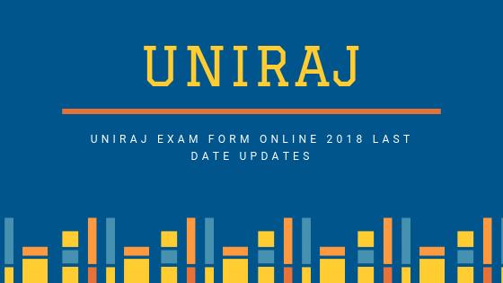 UNIRAJ exam form