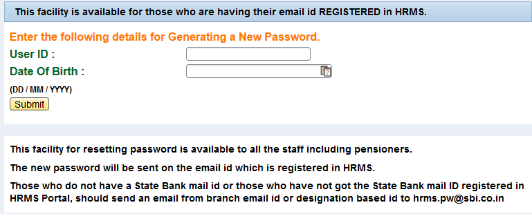 SBI HRMS Login for Salary Slip HRMS Pensioners Updates