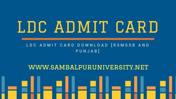 LDC Admit card