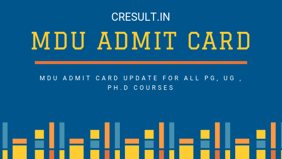 MDU Admit Card
