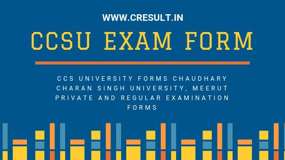 CCSU exam form