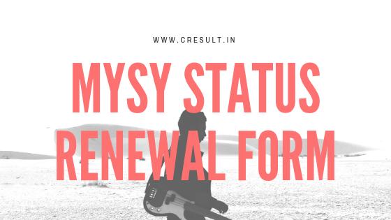 MYSY status Renewal Form
