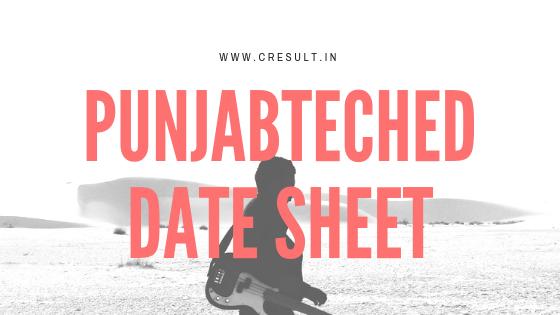 Punjabteched Date Sheet