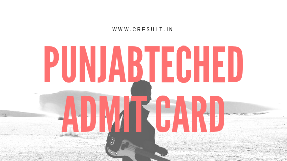 Punjabteched Admit Card