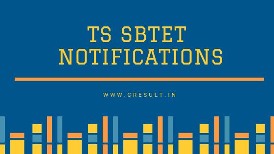 TS SBTET Notifications